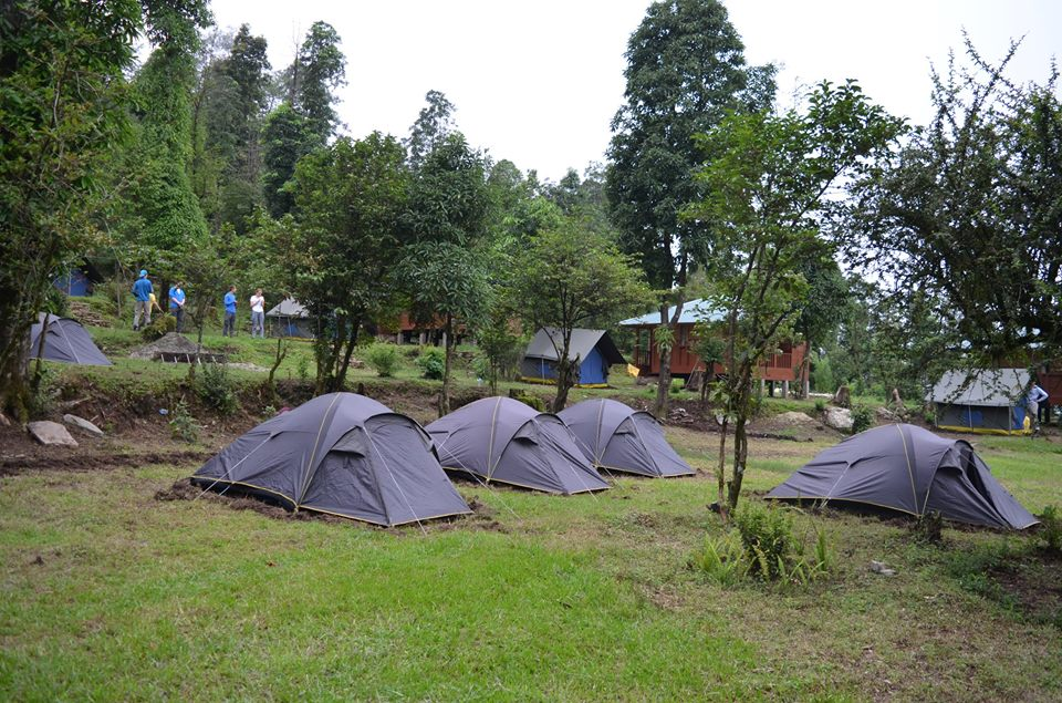 Tented accommodation at Kalsee Eco lodge