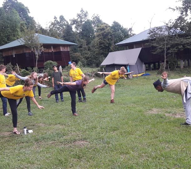 Yoga class at Kalsee Eco-lodge